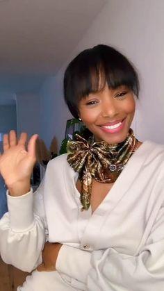 Ways To Tie Scarves, Ways To Wear A Scarf, How To Wear Scarves, Scarf Wearing Styles, Hair Scarf Styles, Scarf Knots, Diy Scarf, Diy Fashion Hacks, Fashion Tips
