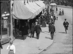 Tram ride through Belfast in 1901