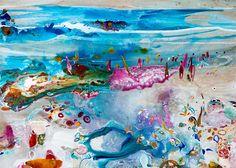 Amanda Krantz ORIGINAL Painting 'Sunstroke Beach'