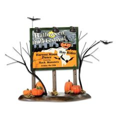 Dept 56 Halloween Halloween Festival Billboard -- Check this awesome product by going to the link at the image.
