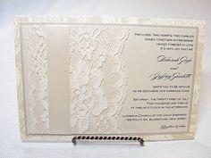 MINA1Lace Wedding Invitation Invite Vintage by LavenderPaperie1, $693.75