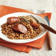Find flageolets, tiny French kidney beans, in specialty food stores or online at www.indianharvest.com. For a nice presentation, garnish with thyme sprigs.