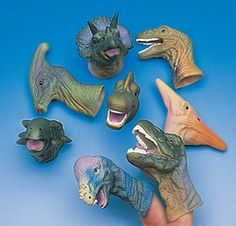 Realistic Dinosaur Finger Puppets. Great for that Dino themed event! Vinyl ; Assorted styles. 5 -11.4cm Price is for 4 Assortment may vary