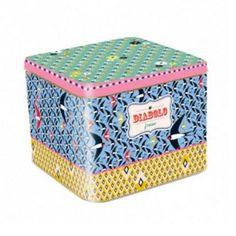 Caixa Coração G É uma excelente Opção para Organizar Brinquedos, Kit de Higiene e outras coisas do Quartinho do Seu Bebê! Você encontra no Mamãe Achei!