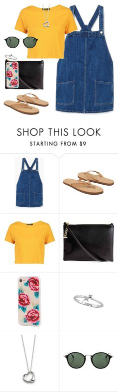 """Untitled #450"" by findthefinerthings ❤ liked on Polyvore featuring MANGO, Rainbow, Boohoo, Sonix, Elsa Peretti and Ray-Ban"