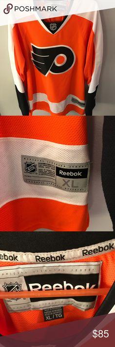 Philadelphia Flyers jersey Like new! Orange Philadelphia Flyers jersey. Reebok Shirts