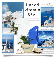 """I need vitamin sea!!"" by lilly-2711 ❤ liked on Polyvore featuring Paper London and River Island"