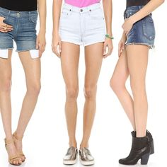 Rank & Style | Top Ten Fashion and Beauty Lists - High Waisted Denim Shorts #rankandstyle