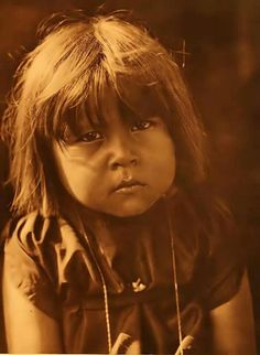 Comanche child, 1908.  Photo by Edward Curtis.