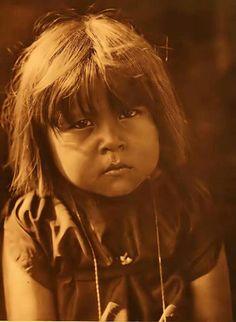 Comanche child, 1908. Photo by Edward Curtis.