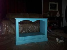 out dated console tv to fab dog bed, painting, pets animals, repurposing upcycling, woodworking projects