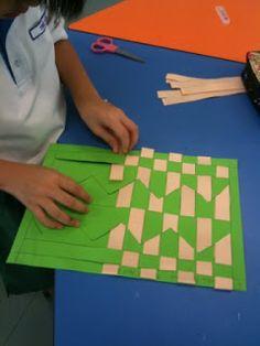 Greendale Primary School Online Art Gallery: Primary 2 - Paper Weaving & 3D Artwork