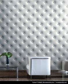 This is such an awesome way to add interest to any space ... it's drywall so you can paint it, too!