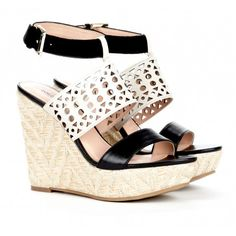 AWESOME Black and White Wedges Sole Society - Wedge sandals - Bristol #black_and_white #wedges #sole_society