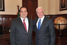El gobernador Javier Duarte de Ochoa asiste a Reunión con Directivos de la Empresa SSA Marine en Palacio de Gobierno