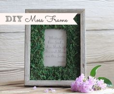 Click Here for a #tutorial on how to make your own Moss Frame - Upcycled Treasures #mosscrafts #upcycledframe