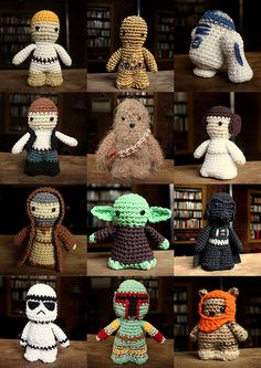 Star Wars characters crocheted by me. Patterns by Lucy Collin, available here.