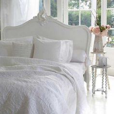 Provencal Louis XV White Luxury French Bed #Frenchbedroomcompany
