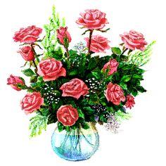 Výsledok vyhľadávania obrázkov pre dopyt Gif képek E Cards, Potted Plants, Floral Wreath, Wreaths, Flowers, Roses, Google, Beauty, Nice Flower