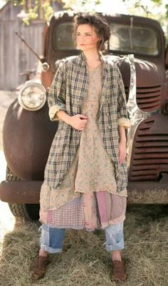 Jacket - could upcycle an XXL men's plaid shirt into this jacket!