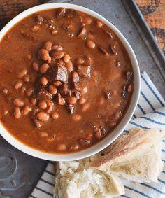 white bean and chicken sausage stew.