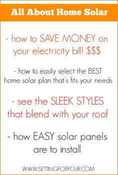 How to Save Money on Your Electricity Bills with Stylish Solar Panels! #solar #sp  | www.settingforfour.com