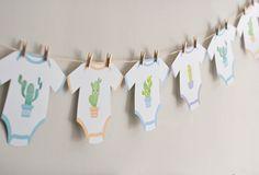 Project Nursery - Cactus Baby Onesies on a Clothesline - Project Nursery