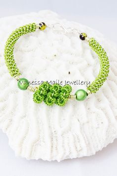 Coiled Wire Bracelet (Lime Green) £14.99