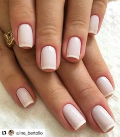 natural wedding nail art shows more beauty to the bride – Page 9 – Kornelia Nowak wedding nails Gel French Manicure, French Tip Nails, Manicure And Pedicure, French Manicures, White French Nails, French Tips, Natural Wedding Nails, Natural Nails, Chic Nails
