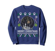 Check this German Shorthaired Pointer Ugly Christmas Sweatshirt Gift . Hight quality products with perfect design is available in a spectrum of colors and sizes, and many different types of shirts! Tacky Sweater, Ugly Sweater Party, Tacky Christmas, Ugly Christmas Sweater, Christmas Design, Merry Christmas, Xmas, Christmas Long Sleeve Shirts, German Shorthaired Pointer