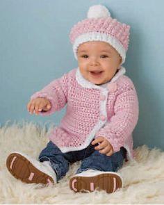 Victorian Rose Baby Sweater By Kim Guzman – Free Crochet Pattern – (ravelry) - Knitting Bordado Crochet Baby Sweater Pattern, Crochet Baby Sweaters, Baby Sweater Patterns, Crochet Baby Cardigan, Baby Girl Sweaters, Baby Girl Crochet, Crochet Baby Clothes, Baby Patterns, Crochet For Kids