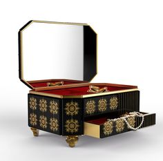 FILIGREE JEWELRY CASE By Boca do Lobo | www.bocadolobo.com #luxuryfurniture #interiordesign #inspirations #homedecorideas #exclusivedesign #contemporarydesign #jewelrycase #filigree #homeaccessories