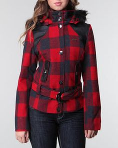 fleur back plad coat Cute Coats, Plaid Coat, Cool Style, My Style, Best Sellers, Winter Outfits, Rain Jacket, Windbreaker, Cottage