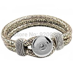 F00252 newest Easy imitation leather rivca Button bracelet  cord size 6mm for 18mm button