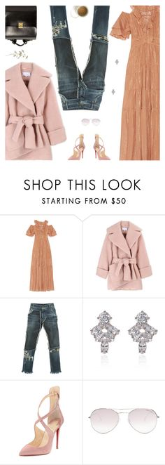 """Rachel Zoe Maxi Over Jeans"" by amberelb ❤ liked on Polyvore featuring Rachel Zoe, Carven, Dolce&Gabbana, Marchesa, Christian Louboutin, Tom Ford and Kelsi Dagger Brooklyn"