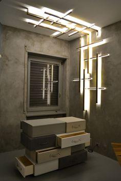 Leather-3餐厅灯光设计 空间高度低的情况下使用此类灯具,或者橱窗设计