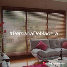 Las persianas de madera son excelentes en materia de seguridad, aislamiento y estilo decorativo en la vivienda. #Arquipersianas