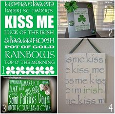 I have a wire memo board and the upper left Kiss Me printable was one of the prints I had on it during March.