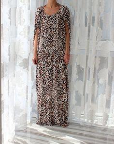 Leopard Print BACKLESS Dress Maxi dress por cherryblossomsdress