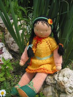 Waldorf type girl doll / dressable by FeltingZsuska on Etsy :)