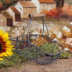 $15  Amazon.com: Antique-Style Wire Garden Basket Home Decor: Home & Kitchen