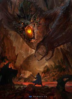 Image from fantasy and syfy.NSFW — imthenic: Dragon by WeiJiang High Fantasy, Dark Fantasy Art, Medieval Fantasy, Fantasy Artwork, Smaug Dragon, Hobbit Dragon, Tolkien, Cool Dragons, Fantasy Beasts