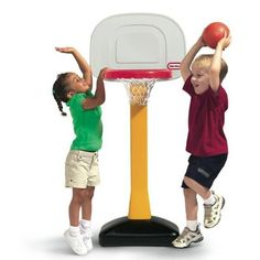 Little Tikes TotSports Basketball Set. 611940 Features: -Basketball set.-Develops social and motor skills and coordination.-Base can be weighted with sand (not included) for stability. Includes: -Includes an oversize rim and junior size basketball. Dimensions: -Product size: 22 W x 23.75 D x 60 H.