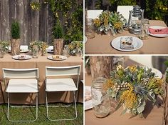 d821e7712b32 Table scape Chairs Linens for camping chic... Baby Shower Themes