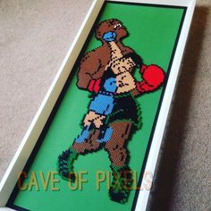 Punch Out Mike Tyson Perler bead sprite by caveofpixels