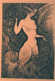 ex-libris Florent van de Vloed Ex Libris, Locuciones Latinas, Lost Art, Japanese Art, Vintage Posters, Fantasy Art, Concept Art, Art Drawings, Illustration Art