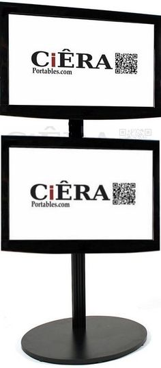 CiERA EZ StandTall Duo ONE - Black Portable Tv Stand, Black, Black People