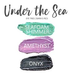 The Under the Sea Eye Trio uses three SeneGence ShadowSense: LE Seafoam Shimmer, Amethyst & Onyx ShadowSense.  These cream to powder eyeshadows will last ALL DAY on your eye.  #shadowsense #eyeshadow