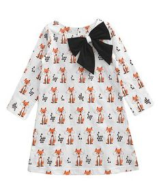 Orange Fox Aurora Dress - Infant