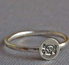 Sterling Silver Skull and Crossbones Ring